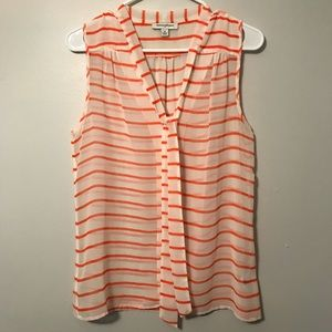 Banana Republic striped button down tank blouse md